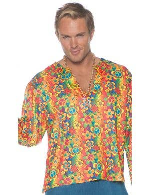 Boogie Down Men's Plus Size 60's Hippie Costume