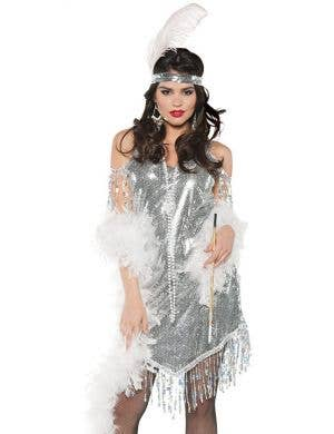 Swingin' Silver Women's 1920's Flapper Costume