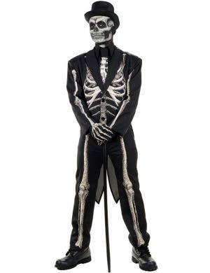Bone Chillin' Mens Skeleton Suit Halloween Costume