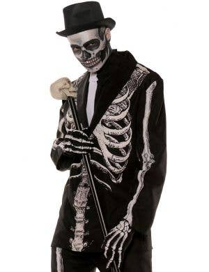 Bone Daddy Men's Plus Size Skeleton Suit Halloween Costume