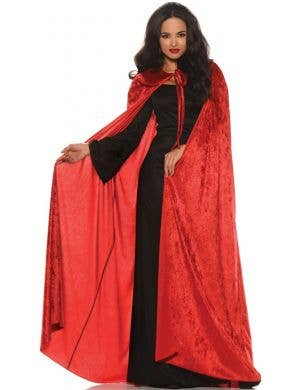 Halloween Red Velvet Adults Costume Cape with Collar