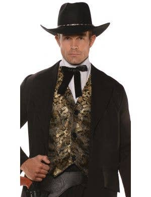 Wild West Gambler Men's Cowboy Fancy Dress Costume