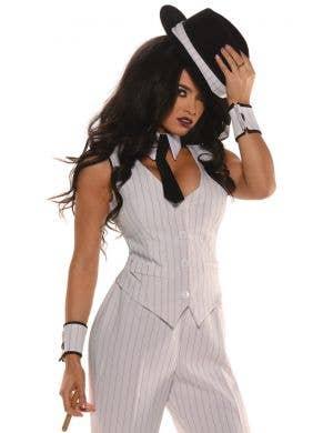 Mob Boss Sexy Women's Gangster Costume