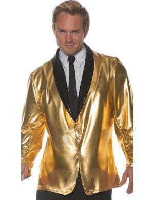 Doo Wop Men's Gold 50's Dinner Jacket Costume