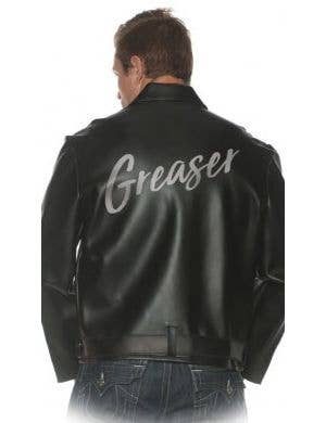 1950's Greaser Black Leather Look Men's Costume Jacket