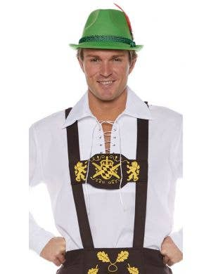 Classic Belgian Brown Lederhosen Men's Oktoberfest Costume