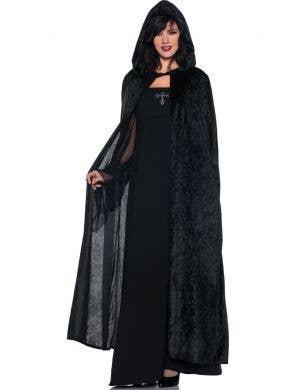 Gothic Women's Velvet Long Hooded Halloween Cloak