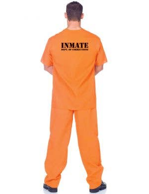 Public Offender Men's Plus Size Orange Prisoner Costume