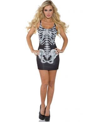 Bones Women's Sexy Skeleton Halloween Costume