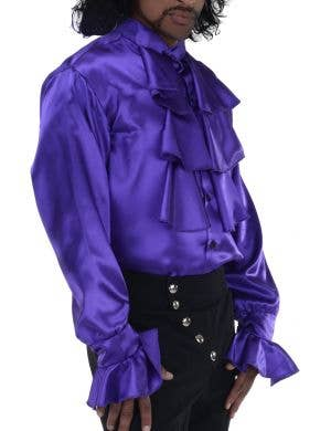 Pop Star Prince Men's Plus Size Satin Costume Shirt