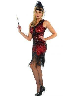 Deluxe Women's Scarlet 1920's Flapper Costume
