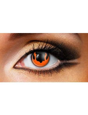 Hell Fire Patterned 90 Day Wear Halloween Contact Lenses