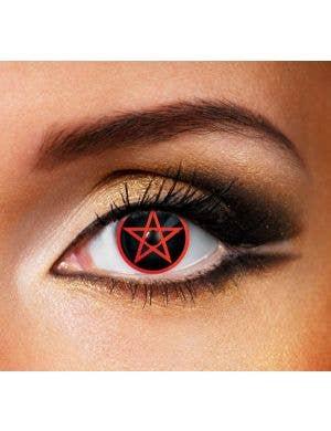 Pentagram 90 Day Wear Halloween Contact Lenses
