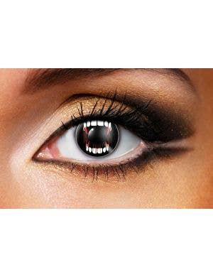 Vampire Teeth Eyes 90 Day Wear Contact Lenses