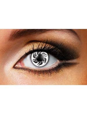 Tribal 90 Day Wear Black & White Contact Lenses