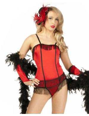 Risky Red Burlesque Women's Sexy Costume - XS Only