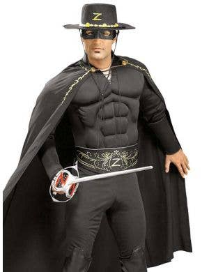 Zorro Muscle Chest Men's Costume