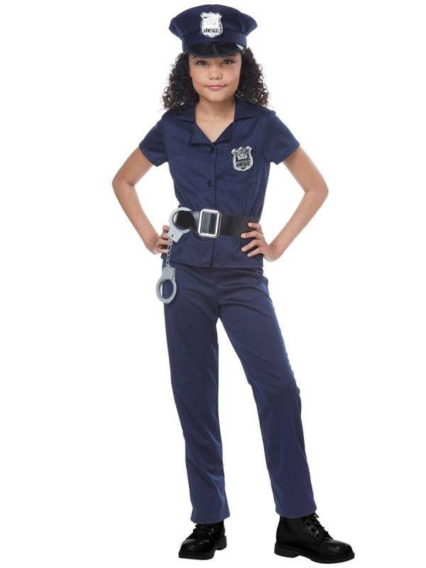 Cute Cop Girls Police Officer Occupation Fancy Dress Costume