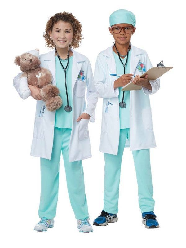 Kids Doctor Occupation Fancy Dress Costume For Boys and Girls