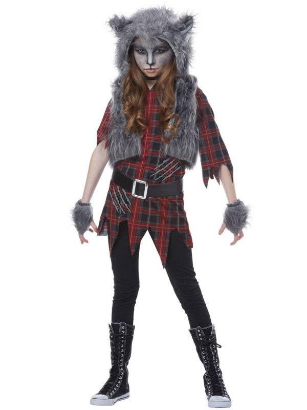 California Costumes Girls Grey Werewolf Halloween Costume