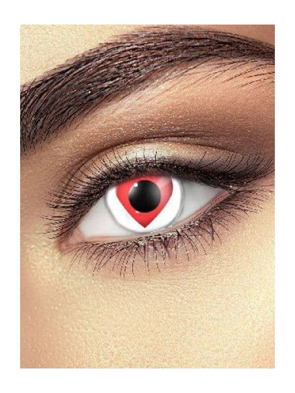 Queen of Hearts Love Heart Contact Lenses Costume Accessory - Main Image