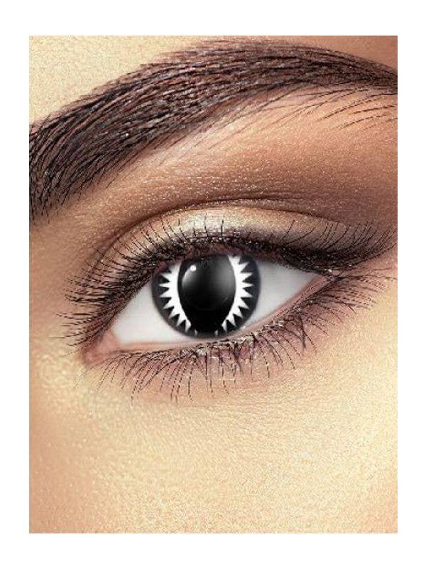 Black Dragon Eye Contacts Costume Accessory - Main Image