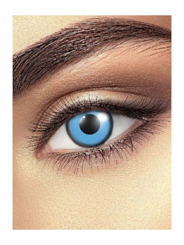 Blue Saw Contact Lenses Costume Accessory - Main Image