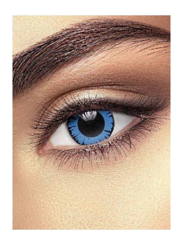 Blue Dolly Eye Contact Lenses Costume Accessory Main Image