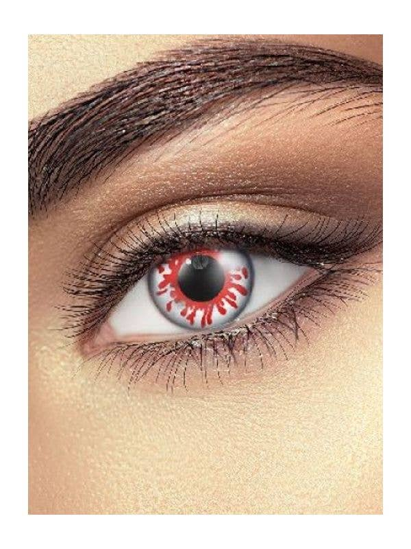 Red Blood Splat Eye Contacts Costume Accessory Main Image