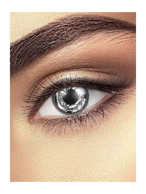 Bionic Cyber Coloured Contact Lenses Costume Accessory - Main Image