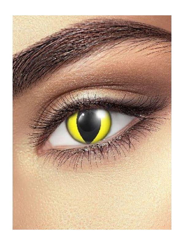 Yellow Cat Eye Costume Contacts Costume Accessory Main Image