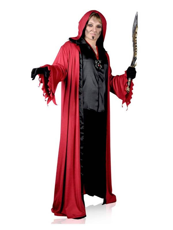 912008aee6dd4 Men s Plus Size Long Red Lucifer Robe Halloween Costume Main Image