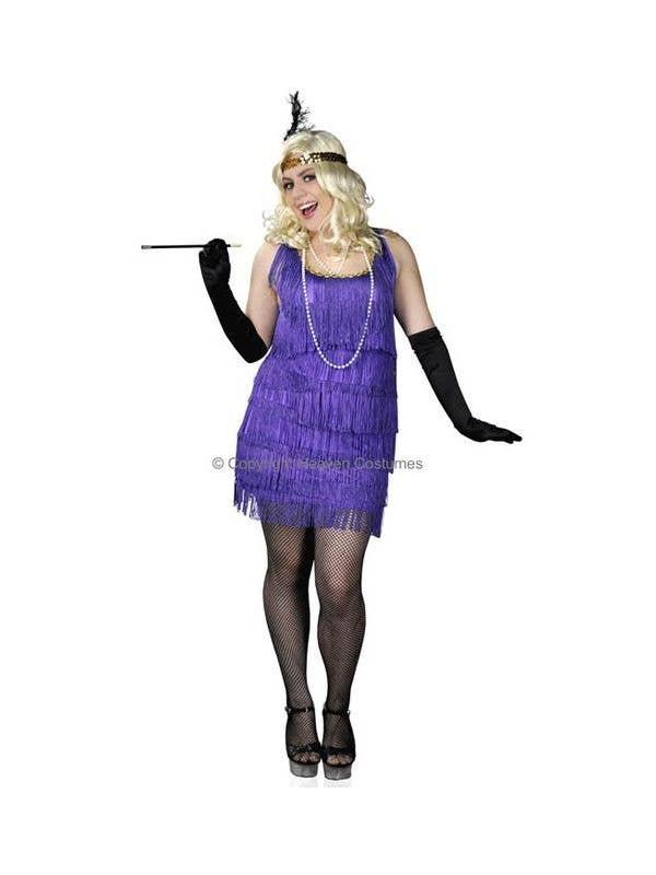 Purple Gatsby Plus Size Flapper Costume Flapper 1920s Costume