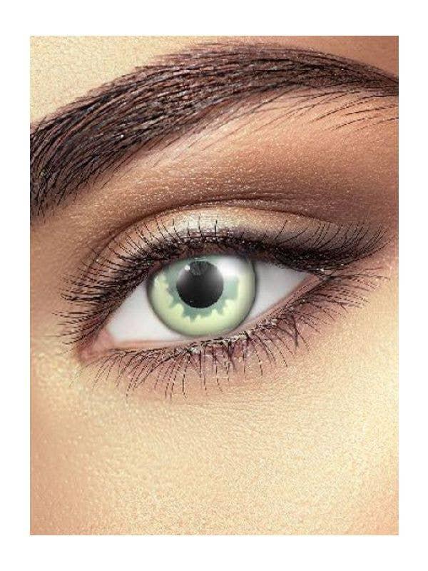 Single Wear Ghost Eye Halloween Contact Lenses Main Image
