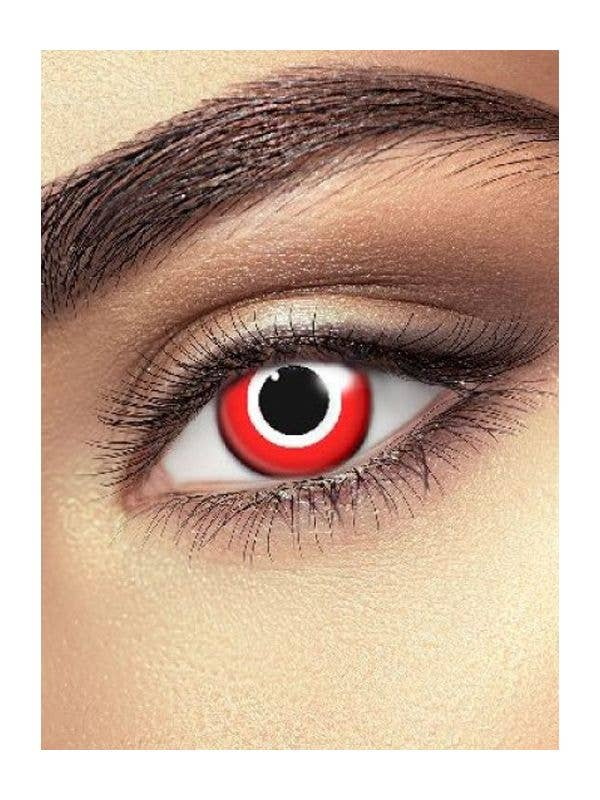 Red and White Assassin Single Wear Halloween Contact Lenses