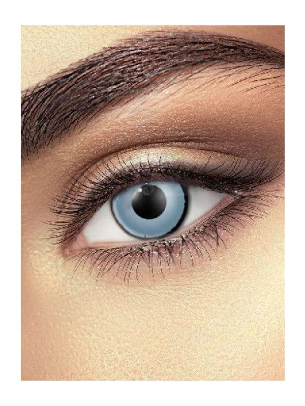 Zombie Grey Single Wear Halloween Contact Lenses Adult Costume Accessory