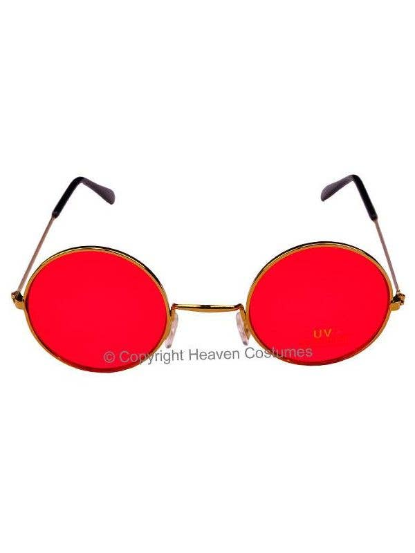 5c9572d1b84 Round John Lennon Sunglasses in Red