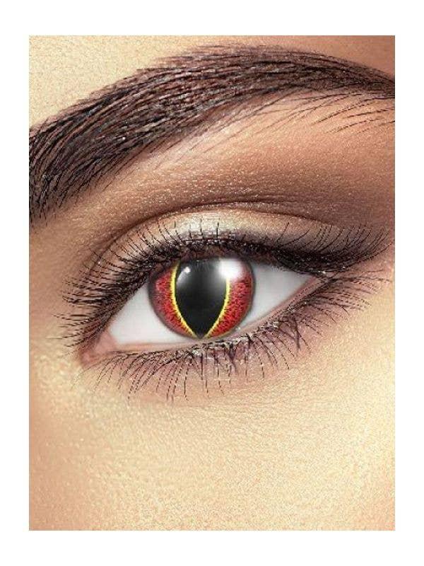 Flame Orange Contact Lenses Adult Costume Accessory - Main Image