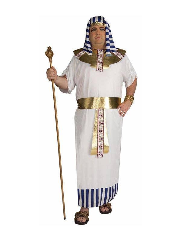Men's Plus Size Egyptian Pharaoh Fancy Dress Costume Front