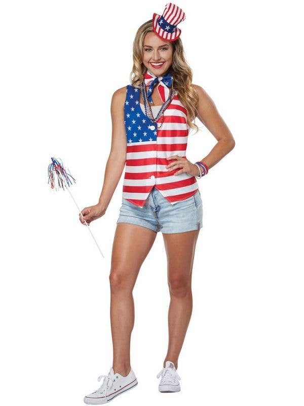 July 4th Women's American Patriot Fancy Dress Costume