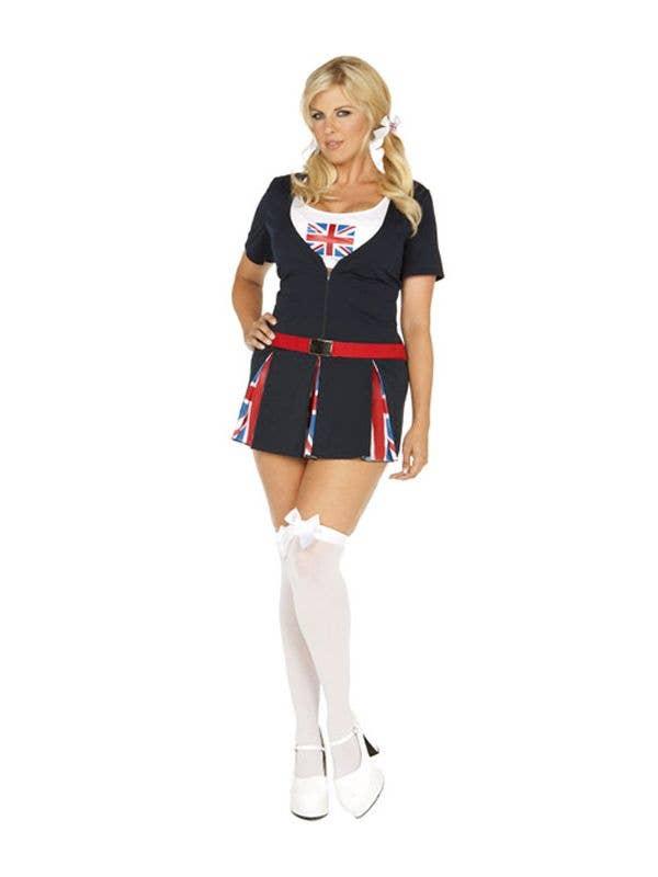 7768cfc0fec Women s Plus Size English Union Jack Costume Front View