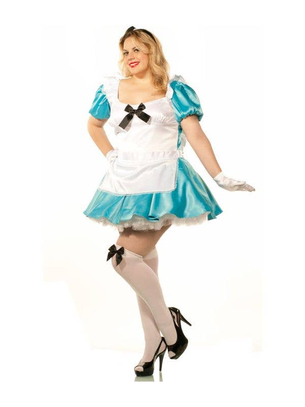 Women's Plus Size Sexy Alice In Wonderland Costume Front View