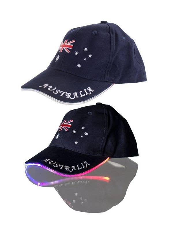 Fibre Optic Flashing Australia Day Baseball Cap  4d4e8fc47eb5