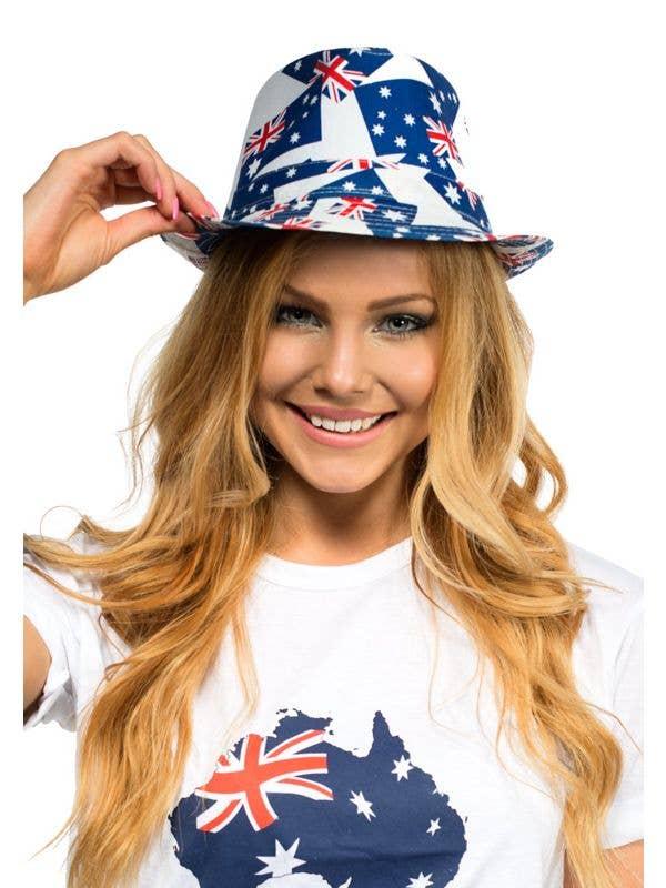 Aussie Hat with Aussie Flag Australia Day Hat Costume Accessory - Main Image