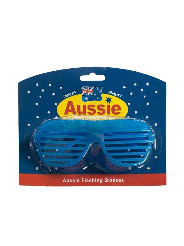 Australia Day Blue Light Up Australia Day Merchadise Glasses