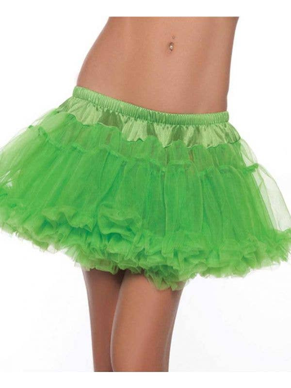 Mini Fluffy Lime Green Petticoat Front View