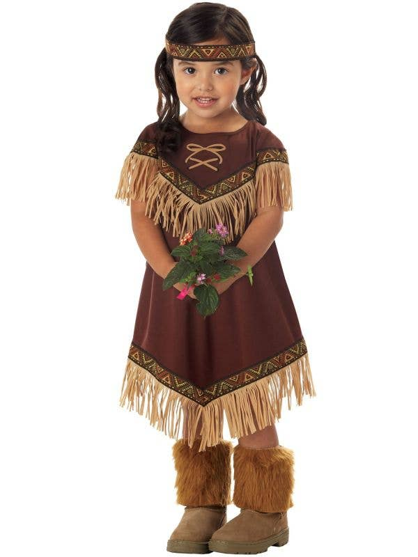 Lil Indian Native American Girls Costume Image 1