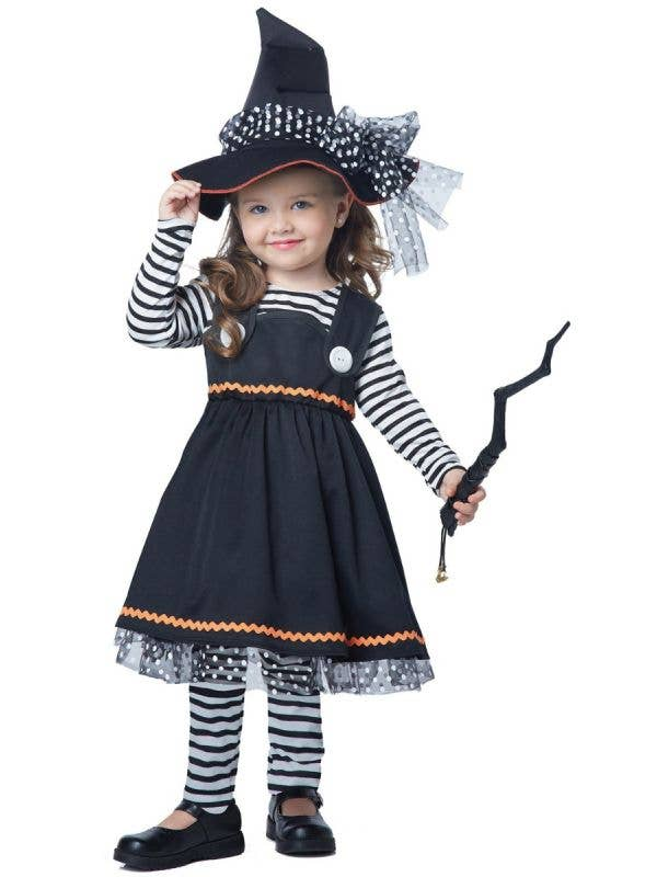 Toddler Girls Crafty Little Witch Halloween Fancy Dress Costume Main Image
