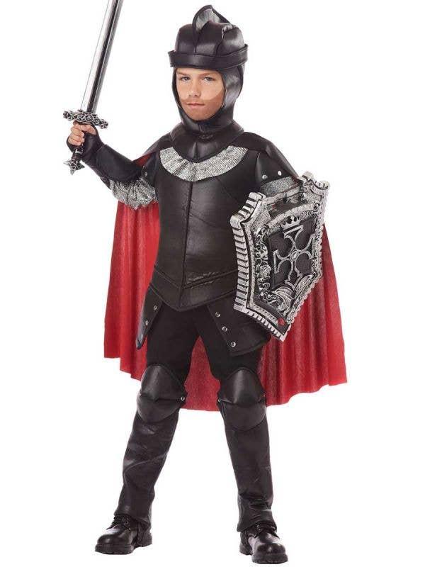 Boys Renaissance Black Knight Fancy Dress Costume