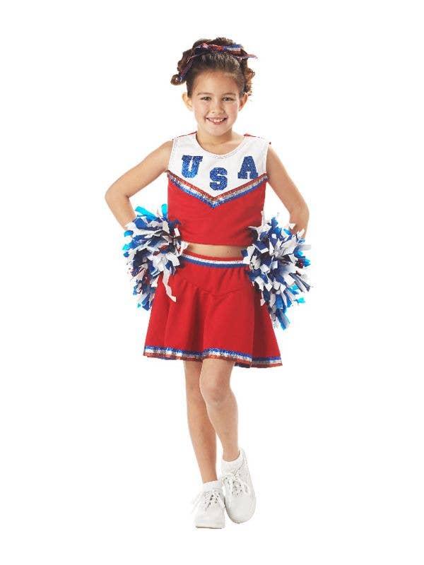 231541e9bd9 USA Cheerleader Girls Costume